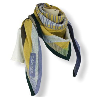 Gridded scarf (yellow/lilac/multi)