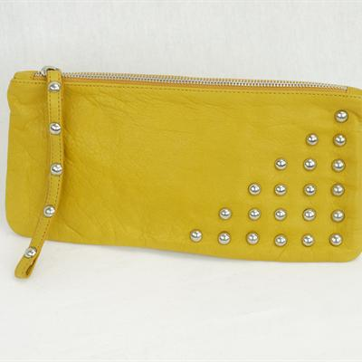 Large studded Purse (yellow)