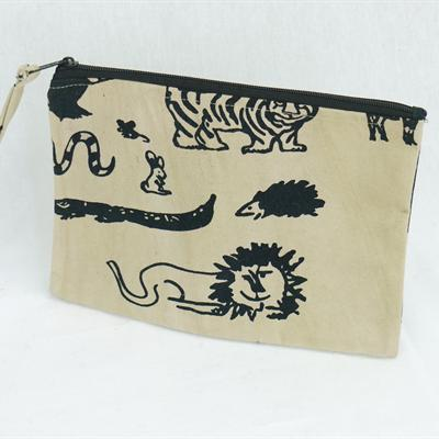 Canvas Purse (beige black)