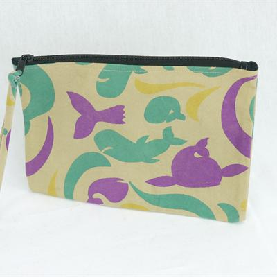 Canvas Purse (beige/blue/purple)