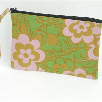 Canvas Purse (green/brown/pink)